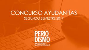 Revisa los concursos abiertos para ayudantías del segundo semestre 2017.